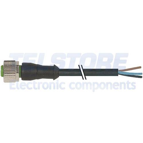 1pcs 7000-12221-6140500 Cavo di collegamento M12 PIN 4 dritto 5m spina 250VAC 4A