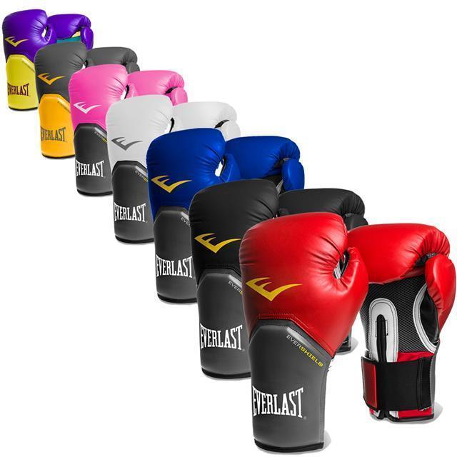 Blau, Everlast Boxhandschuhe Elite Pro Style 14oz