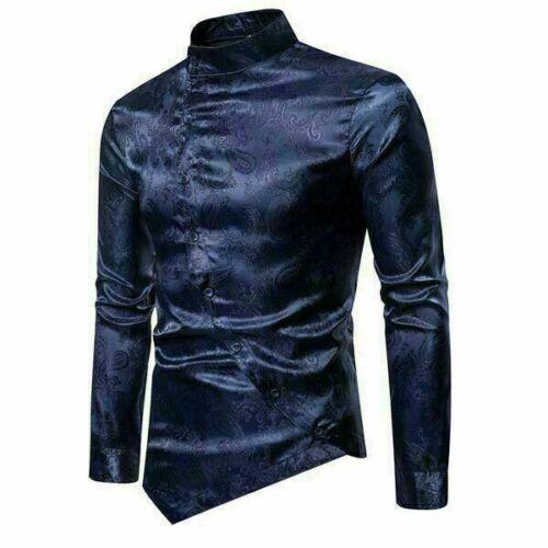 Dress Shirts Shirt Slim Fit Blouse Top Stylish Mens Luxury Long Sleeve Floral
