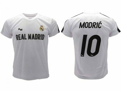 big sale ce2fd 7a790 Shirt Modric Real Madrid Home Official 2018 2019 Luka 10 White Adult Child  | eBay