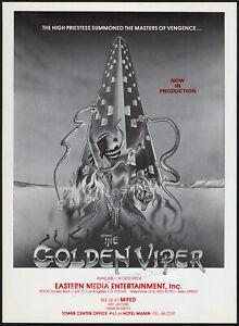 THE GOLDEN VIPER__Orig. 1982 early Trade AD / poster__ Eartha Kitt__Clint Walker