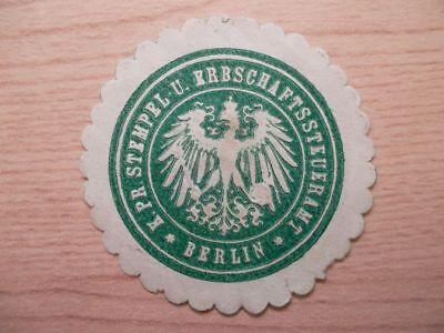 Erbschaftssteueramt Berlin Neue Sorten Werden Nacheinander Vorgestellt 12786 Pr FleißIg Siegelmarke Stempel U K