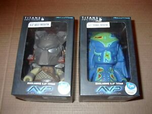 Lot of 3 AVP Alien Predator Titans Vinyl Figures FYE Exclusive Thermal unmasked