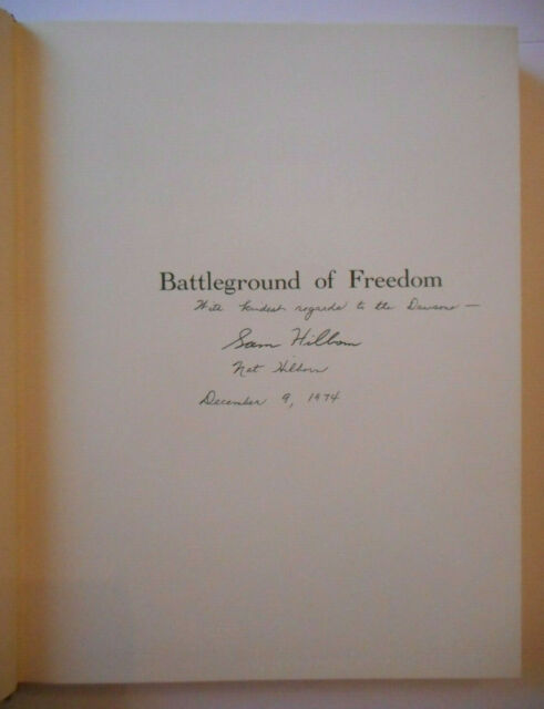 Signed Battleground of Freedom: South Carolina in the Revolution by Hilborn HB