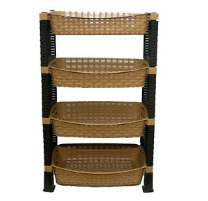 Raddan-4-Tier-Decorative-Vegetable-Fruit-Rack-Storage-Stand-Trolley-Shelf-LBS