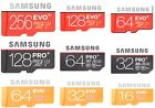 SAMSUNG EVO PRO PLUS + 256GB 128GB 64GB 32GB 16GB 1GB Micro SD C10 U3 Card lot