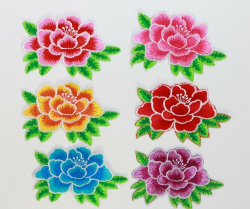 2 X  Iron On Patches embroidered  Applique Sew on Flowers*Buy 1 get 1 30/% Off *