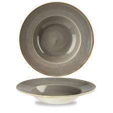 Churchill STONECAST Large Coupe Bowl Peppercorn Grey Teller Porzellan 240 cl