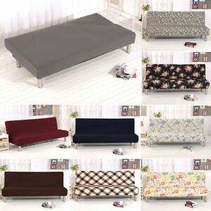 Cool Details About Stretch Armless Bed Sofa Cover Full Folding Elastic Slipcover Couch Chair Covers Download Free Architecture Designs Scobabritishbridgeorg