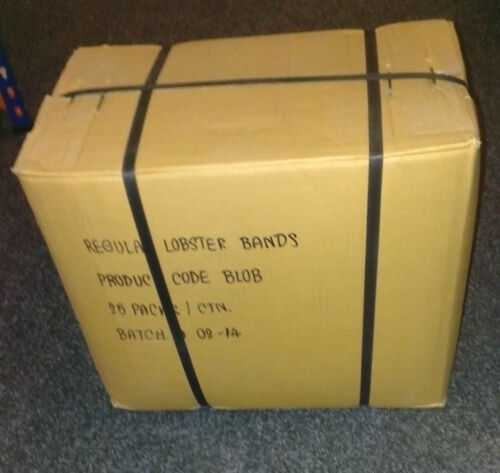 LOBSTER BANDS - FULL BOX - 25 X 1LB BAGS - FREE DELIVERY