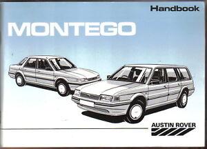 Austin Montego 1.3 & 1.6 Base L Hl Saloon Estate Propriétaire Initial's Handbook 1988-afficher Le Titre D'origine Phbkbthi-07222133-109942609