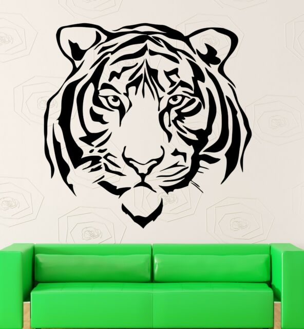 Wall Stickers Vinyl Decal Beautiful Tiger Predator Animal Tribal Decor ig580