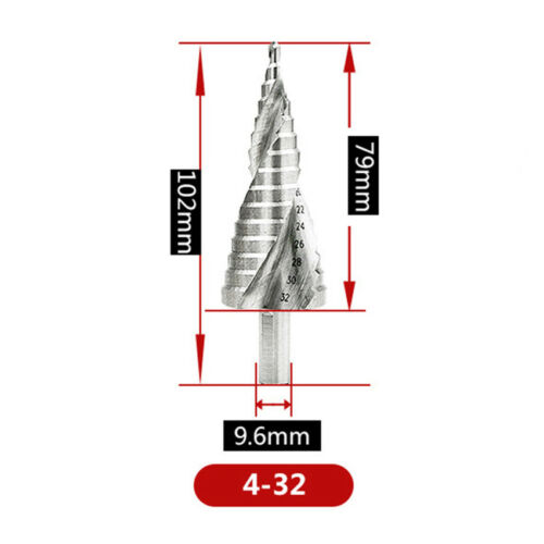 HSS Spiral Flute Step Drill Bits Set Core Cone Step Hole Cutter For Drill Tools