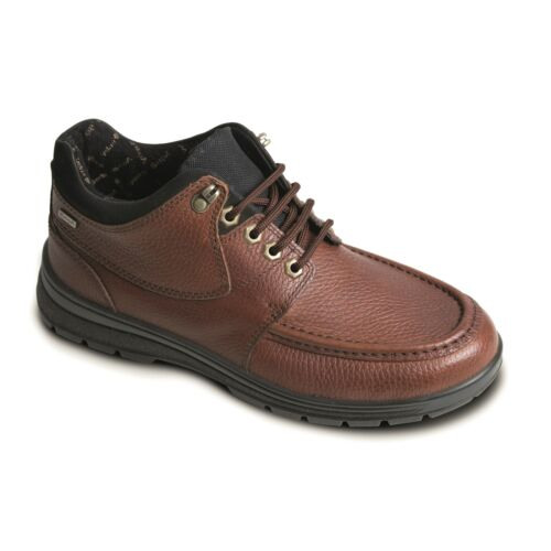 Padders CREST Mens Leather Extra Wide Waterproof Lace Up Outdoor Shoes Tan Brown