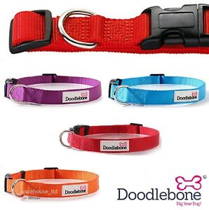 Doodlebone-Dog-Puppy-Bold-Durable-Nylon-Adjustable-Collars-5-Sizes-5-Colours