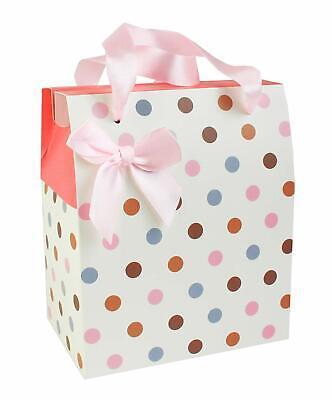 Confezione Da 12 A Pois Scatola Pieghevole Con Nastro Festa Di Natale Scatola Regalo Di Carta- Diversificato Nell'Imballaggio