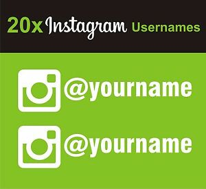 Details about 20 x Instagram Username Graphic Vinyl Decal Sticker EURO JDB  DUB VW Funny