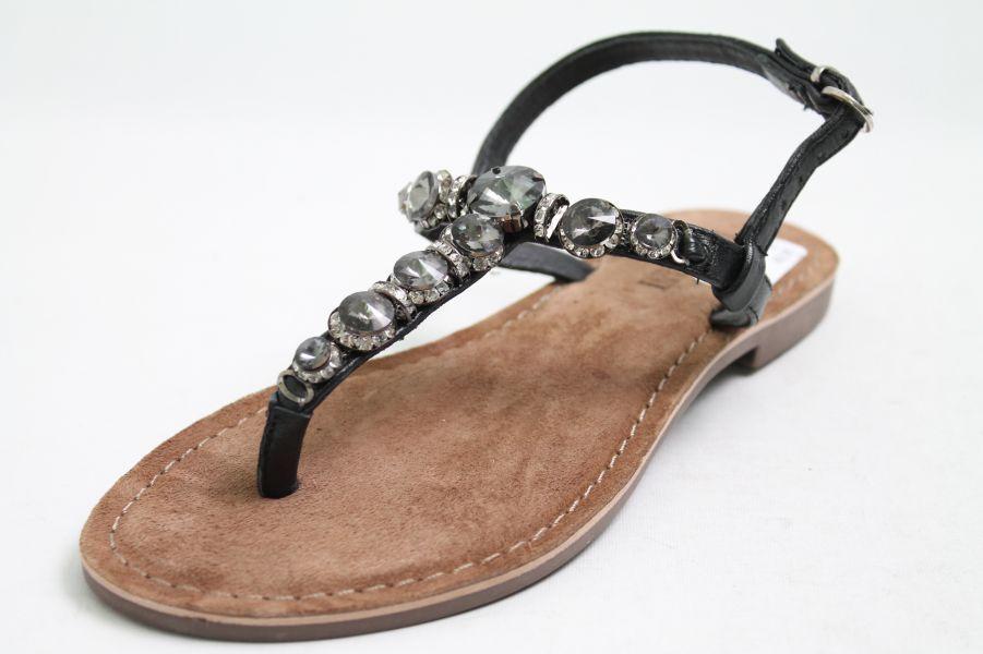 Lazamani cuero sandalias, negra, cuero Lazamani aplicaciones f07c4d