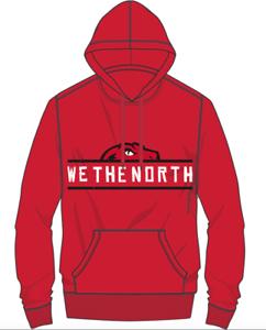 timeless design 748ca c34f6 Details about Men's Toronto Raptors Mitchell Ness We The North Half Head  Red Sweatshirt Hoodie