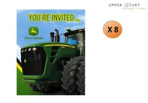 Image Is Loading John Deere Invitations 8 Pack Paper Birthday Party