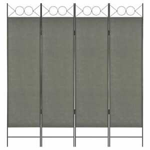 vidaXL-4-Panel-Room-Divider-Anthracite-160x180cm-Foldable-Partition-Screen