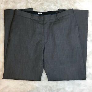 Banana-Republic-Men-039-s-Gray-Wool-Professional-Career-Trousers-Size-34-32