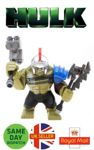 Avengers Gladiator Hulk Mini Figure Marvel Ragnarok Thor Axe Hammer UK Seller