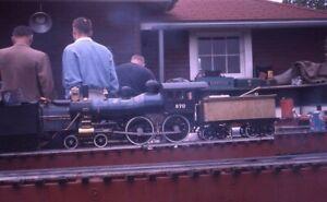 Railroad-Steam-Engine-MODEL-Locomotive-Original-1961-Photo-Slide