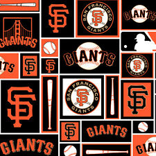 San Francisco Giants MLB Block Logo Cotton 60' Fabric Sold by the Yard