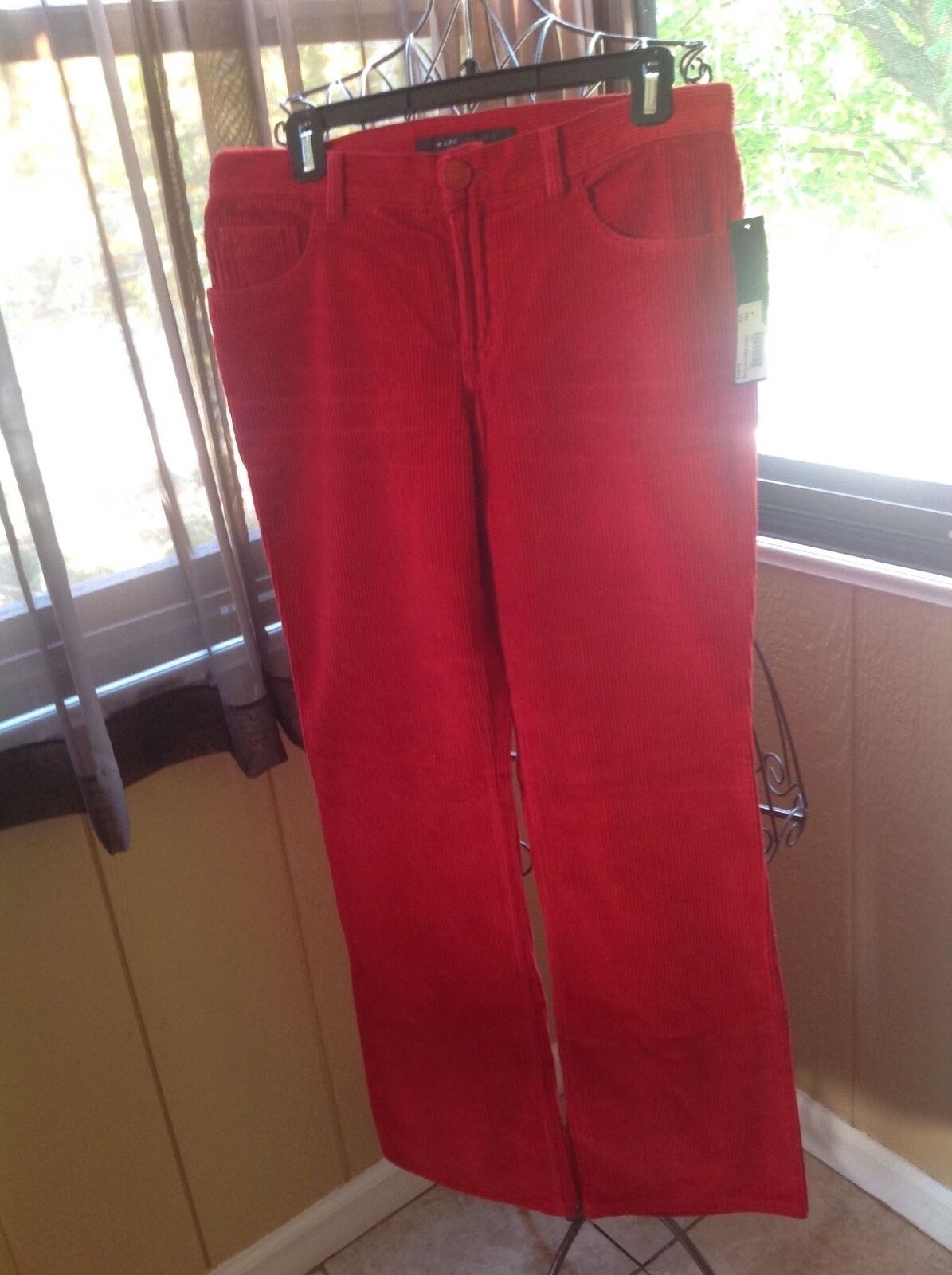 MARC JACOBS RED CORDUROY PANTS SIZE  8 NEW