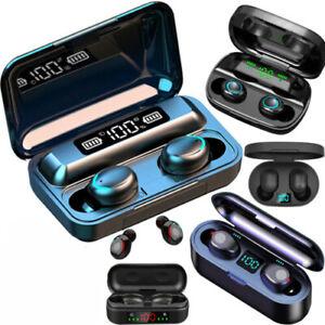 Kopfhörer TWS Bluetooth 5.0 Sport Headset In-Ear LED Anzeige Ohrhörer Ladebox
