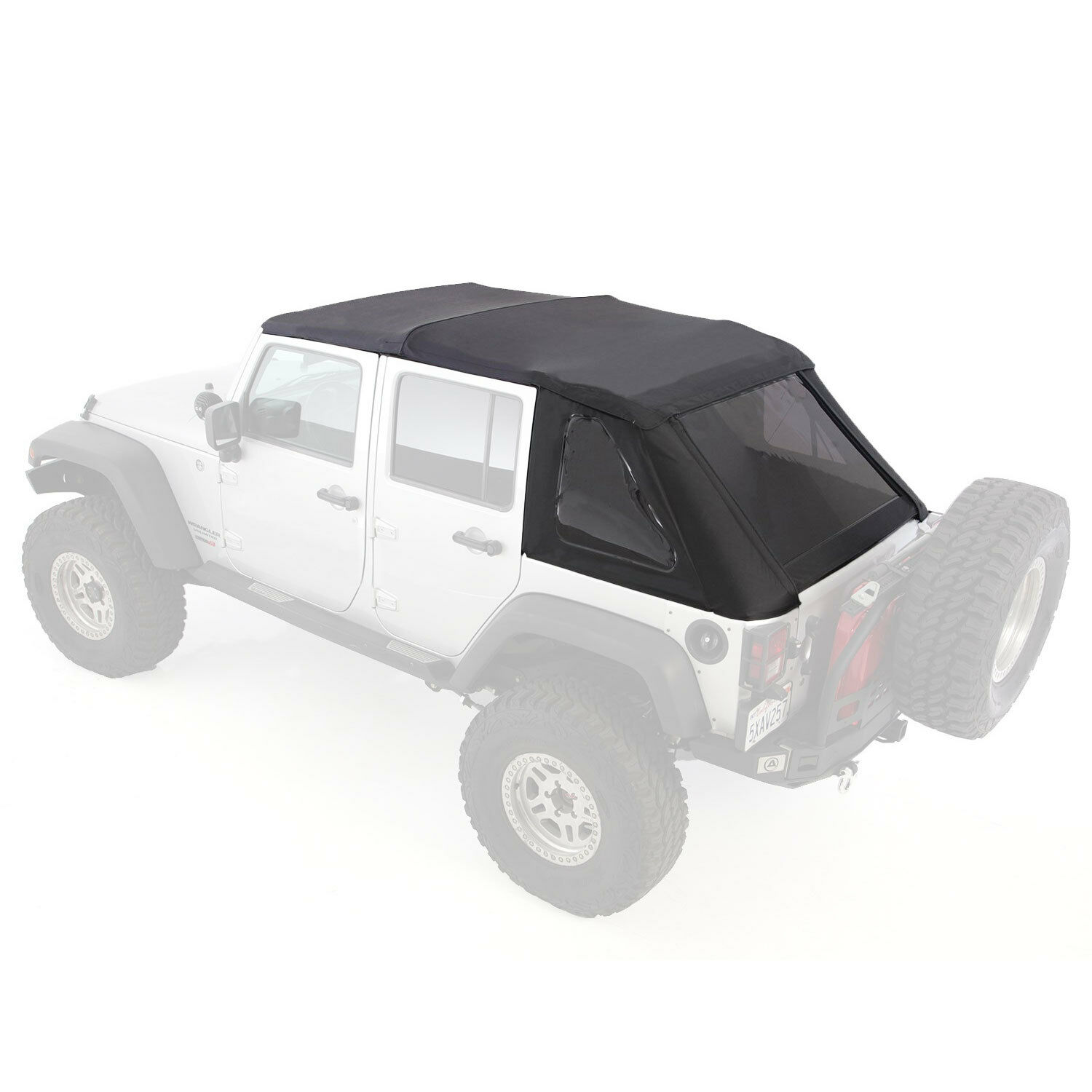 Smittybilt 9083235K Bowless Combo Top Kit w/Tinted Windows for Jeep Wrangler & JK  07-17