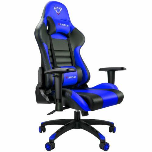 Furgle Gaming Racing Leather Office Chair Swivel Ergonomic Computer Desk Seat