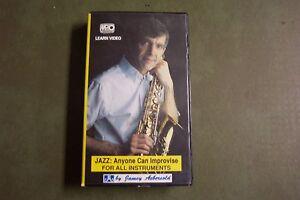 Aimable Jamey Aebersold Jazz: Quiconque Peut Improviser Learning Vhs Cassette Vidéo-free S&h-afficher Le Titre D'origine Excellente Qualité