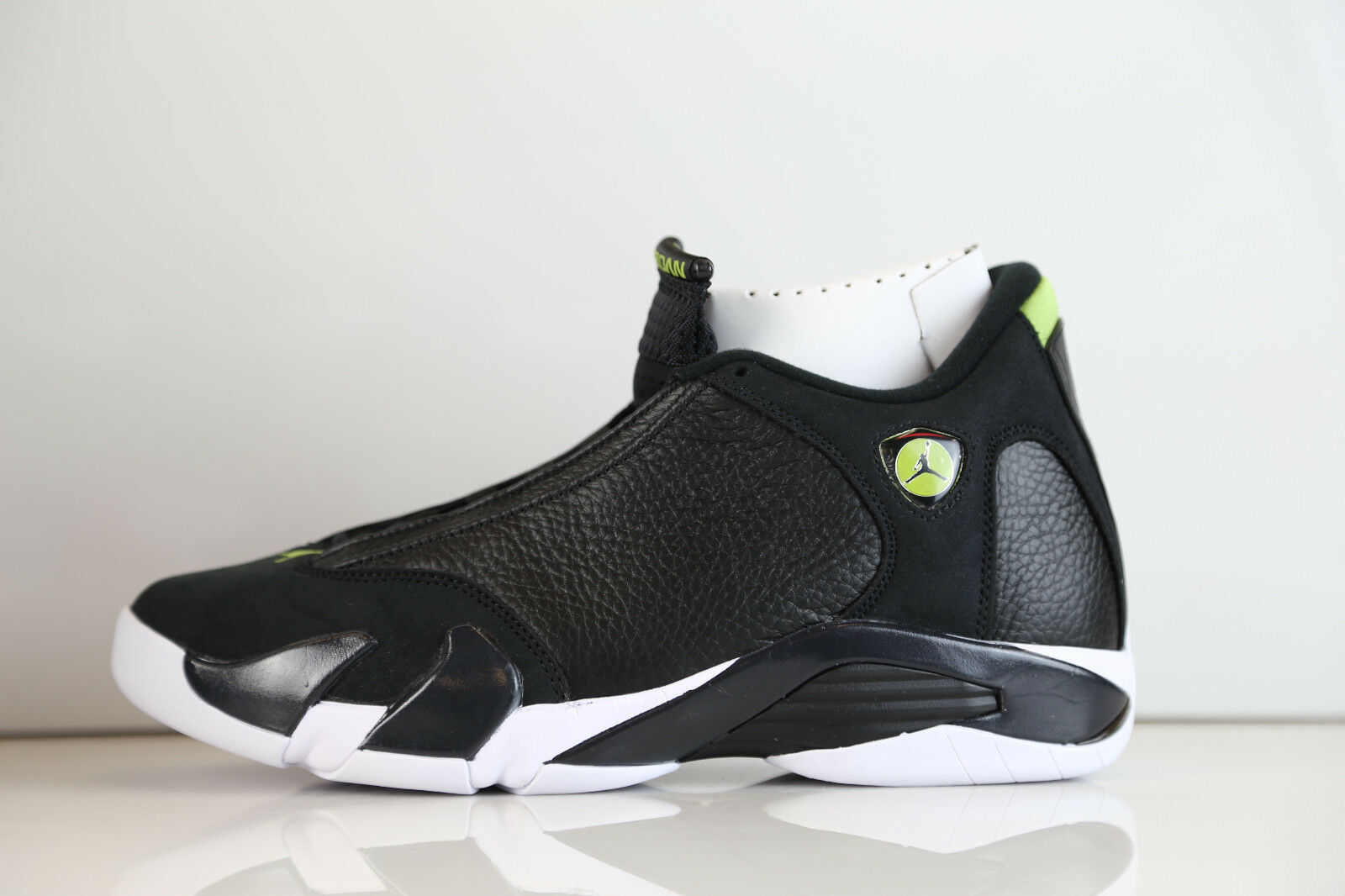 Nike Air Jordan Retro 14 Black Vivid Green Indiglo 2016  487471-005 7-15 11