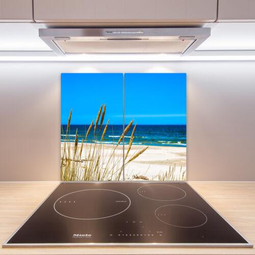 Cuisinière-Casing Verre Ceranfeld-couvercle DECO Mer Herbe 2x30x52 cm