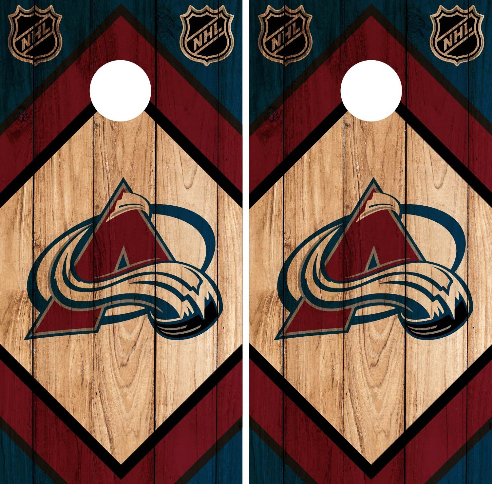 colorado Avalanche Cornhole Wrap NHL Game Board Skin Set Vinyl Decal CO333