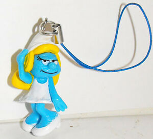 Smurfette-3D-Figure-Charm-THE-SMURFS-Purse-Hanger-Bag-Dangler-by-Cool-Things