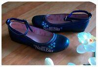 Kinder Schuhe Slipper Ballerinas Halbschuhe Leder Sohle Gr. 31 bis 34 Mädchen