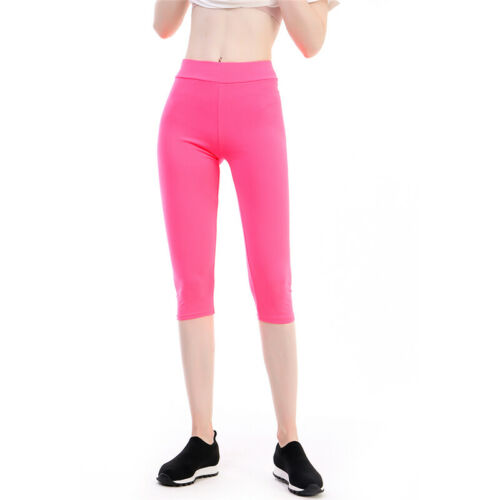 Women/'s Trouser Cropped Pants 3//4 Leggings Yoga Fitness Stretchy Pants LC