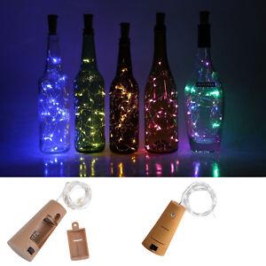 10 20 30LED Corcho Forma Led Alambre de Cobre Cadena de Luces Botella de Vino
