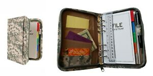 6-Ring-Binder-Camouflage-Planner-Organizer-Folder-W-Time-Management-Pages-Office