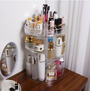 3-Tier-Makeup-organizer-storage-Holder-Jewelry-Display-360-Rotating-box-case-B1