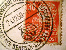 German Democratic Republic Stamp: Friedrich Engels 1953 (to England)+ Postcard