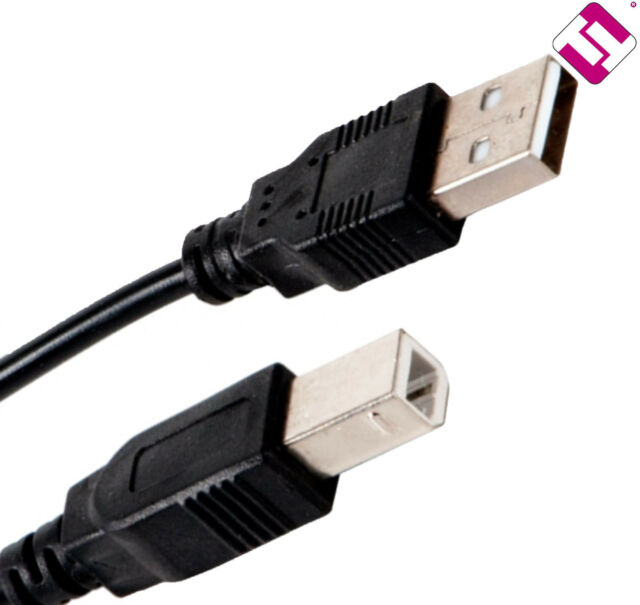 Cable Of Printer USB To B Male 1.8 Metres 2.0 Universal Quality Excellent