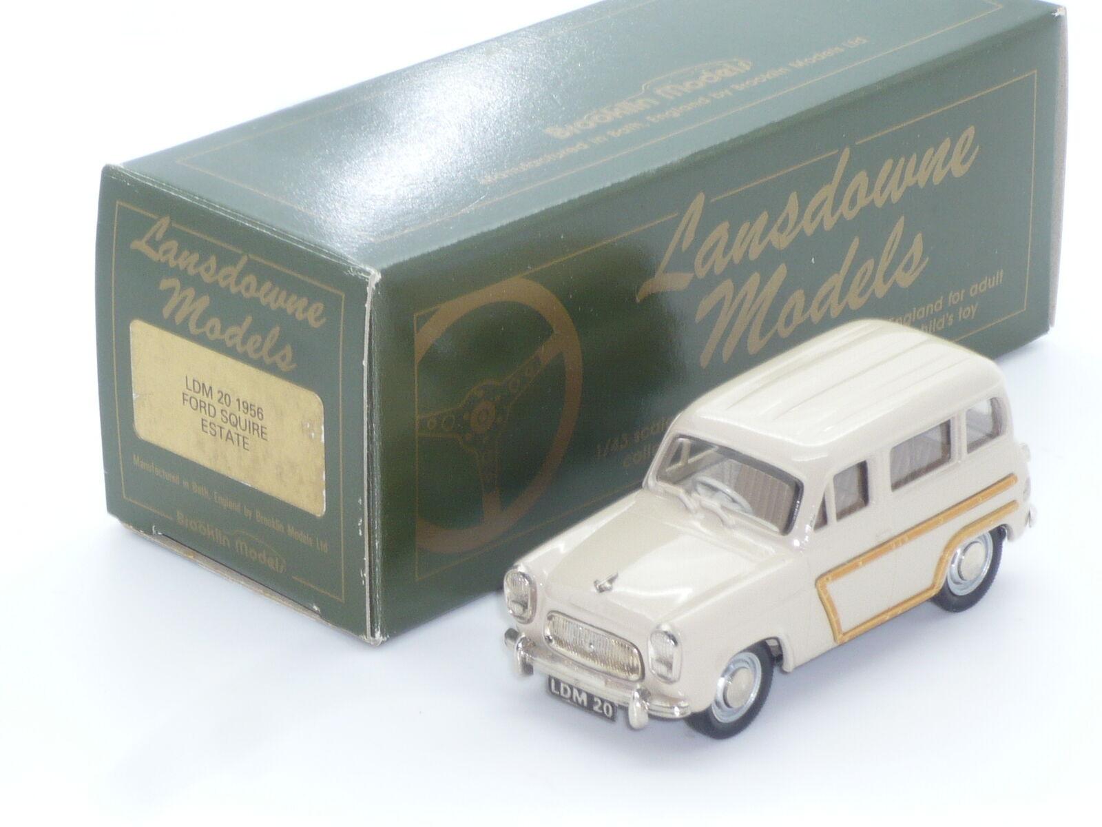 New 1 43 43 43 Lansdowne Models LDM20 1956 Ford Squire Estate Handbuilt Brooklin 0ea7e4