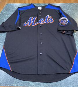 Majestic New York Mets Jose Reyes #7 Alternate Black Jersey Adult ...