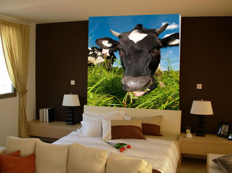 3D Ranch Kuh 744 Tapete Wandgemälde Tapete Tapeten Bild Familie DE Summer | Zu verkaufen  | Lebhaft und liebenswert  | Guter weltweiter Ruf