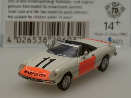 29603-1//87 Brekina Alfa Romeo Spider RIJKSPOLITIE Polizei Niederlande