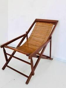Poltrona Sdraio In Legno.Dettagli Su Sedia Poltrona Sdraio Cinese Legno Bambu Design Anni 50 Vintage Modernariato
